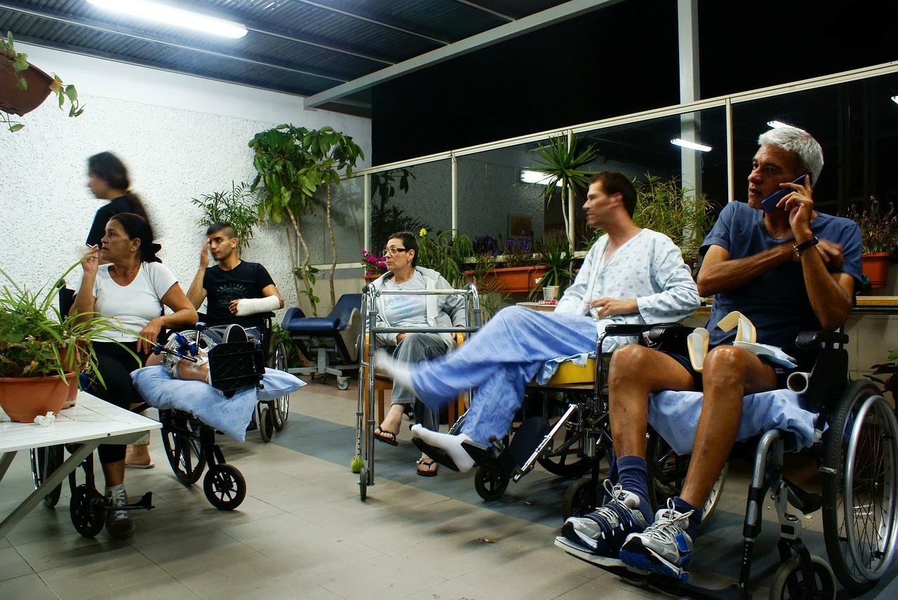 disabled, wheel chair, hospital